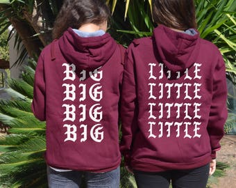 Matching Hoodie Big Little Reveal Matching Sorority Hoodie Big Little Hoodie For Sorority Reveal I Feel Like Your College Reveal Shirt
