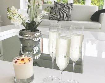 Champagne & Roses Wood Wick Candle