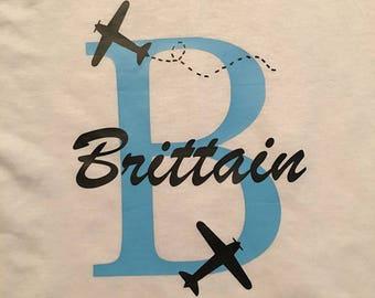 Personalized Airplane Shirt