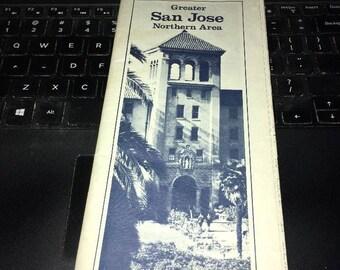Vintage MAP: AAA Greater San Jose 1978