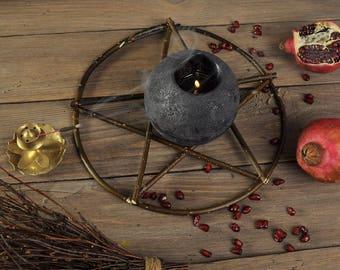 Primitive pentagram, wiccan symbol, pentacle, handmade  twigs Celtic Pagan Samhain Witch rituals tool