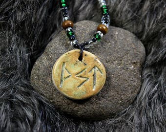 Viking rune necklace - Victory symbol, Viking rune pendant, Viking rune charm, Viking rune jewelry, Symbol necklace, Northern magic