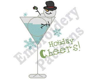 Holiday Cheers - Machine Embroidery Design