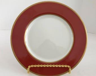 "Vintage Mikasa Bone China Egyptian Terracotta 7 1/2"" Salad Plate A6850"