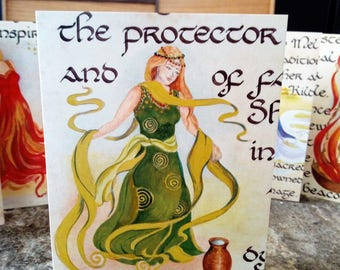 The Woman Brigid Card, Blank Greeting Card, Made in Ireland