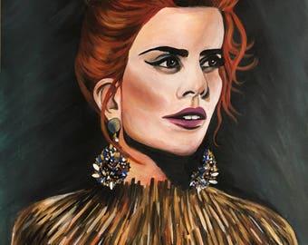 Paloma - Hand Finished Fine Art Print