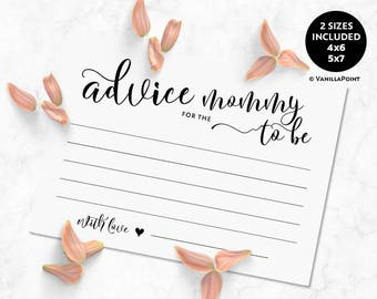 Advice For The Mommy To Be Printable Cards Baby Shower Advice Cards For Mom Printable Rustic Baby Shower Games Advice For The Mom To Be Card
