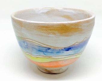 mountain Bowl, Colorful Bowl,natural, Stoneware Bowl, Handmade Bowl, Housewarming Gift, Wedding Gift