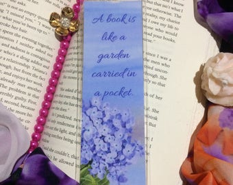 Garden Collection with Book Love Quotes Laminated Bookmark