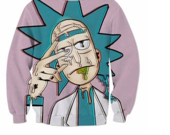 Rick morty Hoodie colours cool winter shirt top sweatshirt hoodie unisex men women funny creative gift fashion