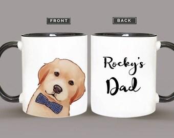 Personalized Golden Retriever Mug, Golden Retriever Mug, Gift For Dog Lover, Dog Lover Mug
