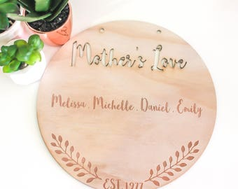 Mothers Love Laser Cut Wooden Plaque