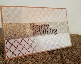 Unique Greeting Card, Handmade Card, ReynoldsGrahamDesign, Happy Birthday, Birthday Card, A9 Card