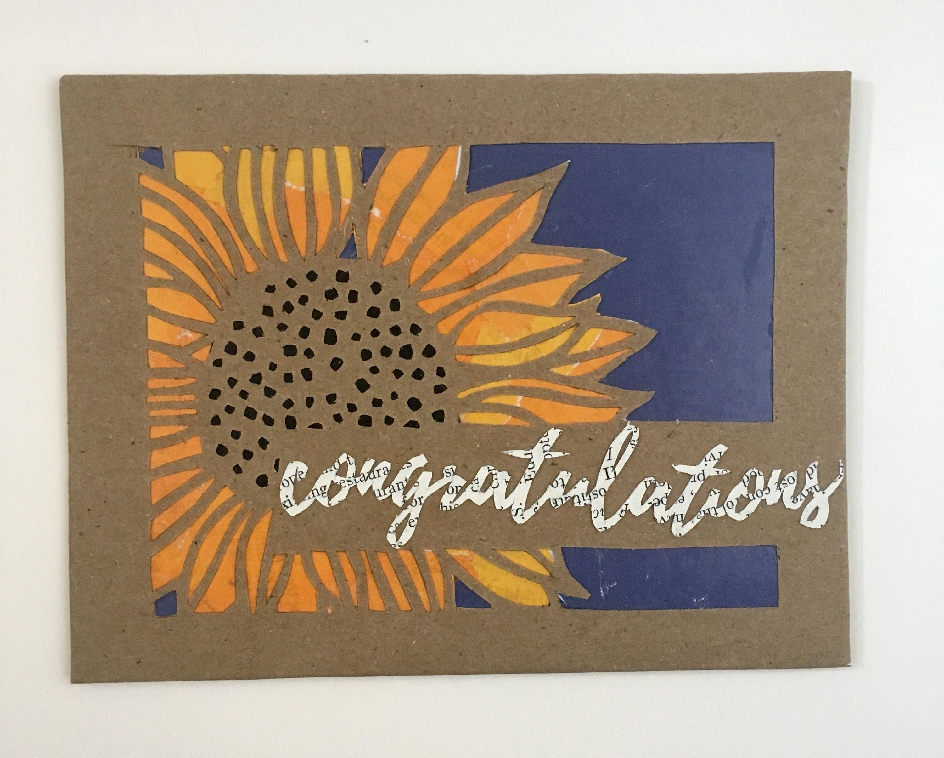Congratulations wedding card handmade greeting cards fall wedding congratulations wedding card handmade greeting cards fall wedding greeting card engagement card baby announcement upcycled recycled kristyandbryce Choice Image