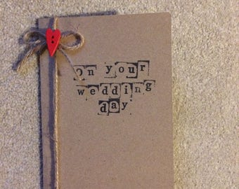 A6 Handmade 'On your wedding day' card
