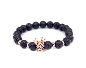 Crown Lava Stone Diffuser Bracelet
