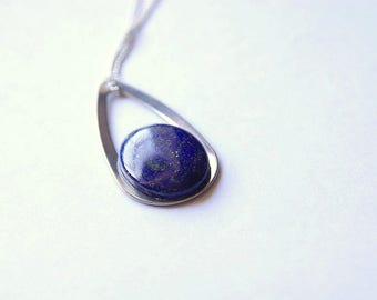 Lapis Lazuli Pendant, Lapis Lazuli Necklace, Lapis Lazuli Cabochon, Lapis Lazuli Gemstone, Lapis Lazuli Jewelry, Crystal Healing