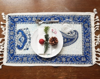 Cotton tablecloth with KALAMKAR patterns