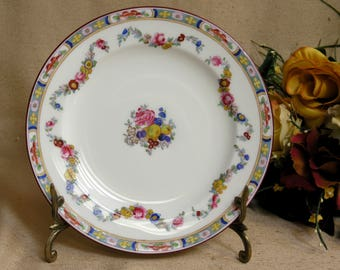 Antique Minton Rose Bone China Dinnerware One (1) Salad Plate Older Globe Stamp c:1884 England