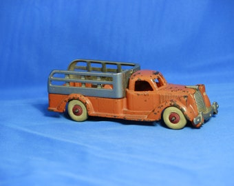 Vintage cast iron Hubley stake body truck