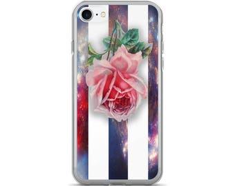 Rose iPhone 7 Case, Rose iPhone 7 Plus Case, Rose iPhone Case, Space iPhone Case, Vintage iPhone Case, iPhone Case, iPhone Skin
