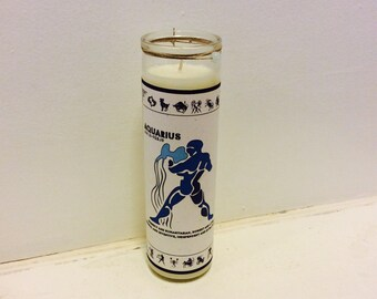 Aquarius Zodiac Soy Candle