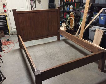 Custom made bedframe with headboard