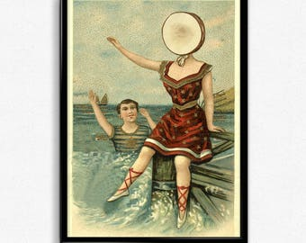 Neutral Milk Hotel Poster - In the Aeroplane Over the Sea Print (11x17)