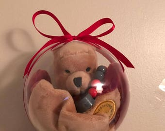 BB' winnie the Pooh plush ball + pacifier