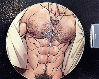 Male  Magnet, Sexy Male Magnet, Refrigerator Magnet, Gay Art, Gay Male Magnet, Gay Pride, Gay Male Art,