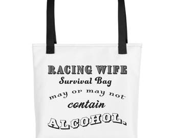 Racing Wife Survival Tote bag