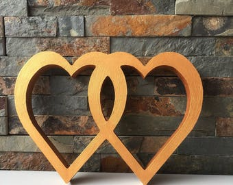 Wooden Hearts Entwined