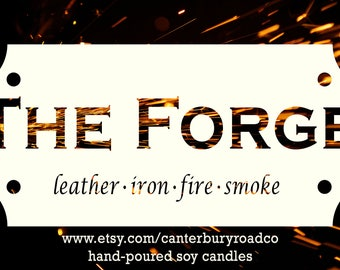 Soy Candles | The Forge | The Wheel of Time | Robert Jordan | Blacksmith | Book Merch | Book Lover Gift | Bookish Gift | Canterbury Road