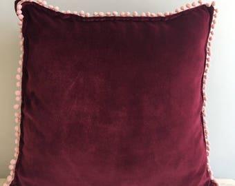 Red Velvet Pillow Cover, Pillow Velvet, 18X18 Red Pillow, Designer Pillow, Velvet Pillows, Velvet Cushion Covers, Red Sofa Pillow Cover