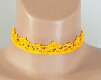 Crochet play collar, BDSM collar, princess, kawaii, pet play collar, choker puppy, Crochet Choker Necklace Free shipping