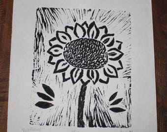 Sunflower Print - Black