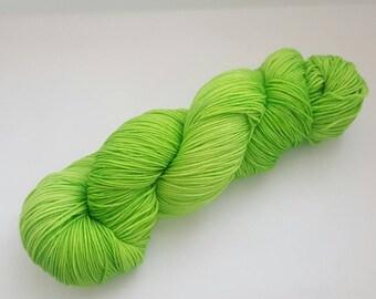 Glow Stick - 4ply Deluxe Sock hand dyed yarn – Superwash Merino + Nylon 85/15