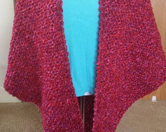 Red and pink shawl
