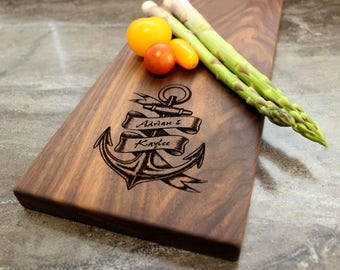 Personalized Cheese Board, Serving Board, Bread Board, Custom, Engraved, Wedding Gift, Housewarming Gift, Anniversary Gift, Engagement #13