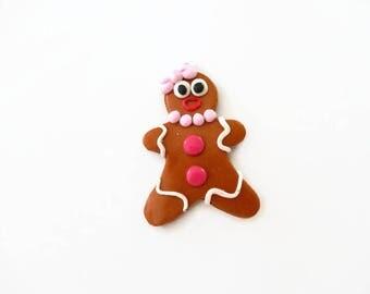 Mrs gingerbread rose Fimo