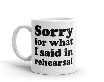 Easy Mug Gift Idea for Theater Rehearsals Actor Actress