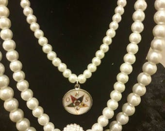 OES Triple Pearl Necklace