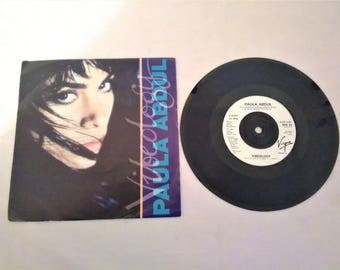 "PAULA ABDUL Videology 7"" Vinyl Single Record Virgin US 1991"