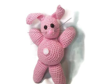 Pink Crochet Bunny Plushie