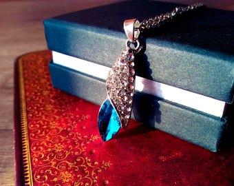 Blue Azure Crystal Elegant Necklace