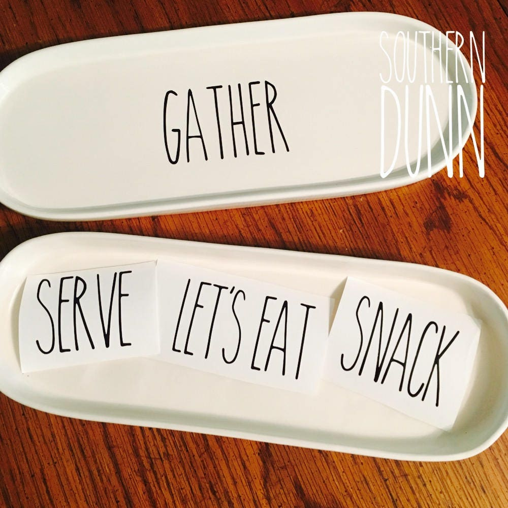 Rae Dunn Inspired Vinyl Decals Planter Tray Decals Custom - Custom vinyl decals for metal
