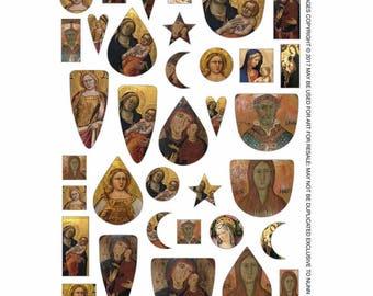Transfer Sheet Madonna Icons