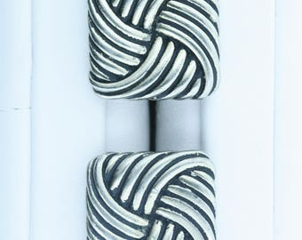 Overlapping Spiral Designed Cuff Links