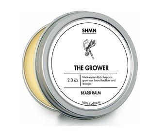 SHMN BEARD BALM - The Grower - 100% Natural - For a fuller healthier beard - Leave in beard conditioner