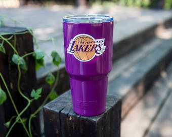 Los Angeles Lakers Yeti Cup Los Angeles Lakers Birthday Party Los Angeles Lakers Cup Los Angeles Lakers Personalized  Gift  Decal